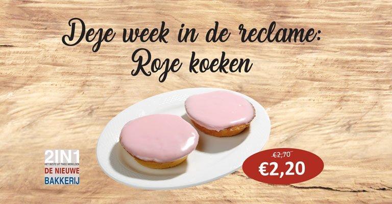 Reclame Roze koeken