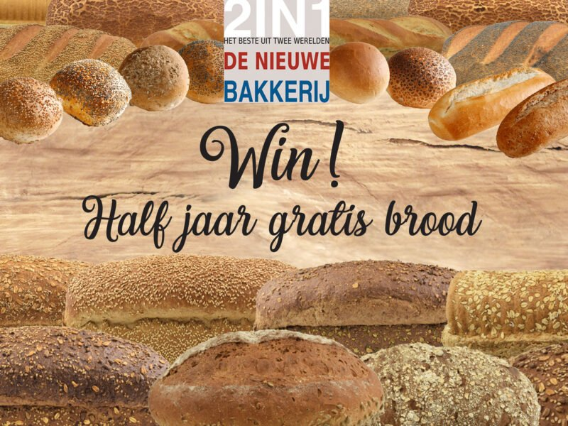 Win! Half jaar lang gratis brood